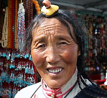 People in Tibet by Peter Freier