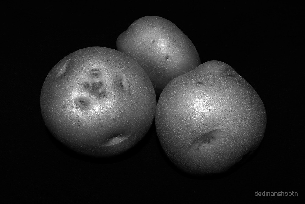potato trio: black & white by dedmanshootn