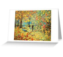 Walk in the solar day Greeting Card