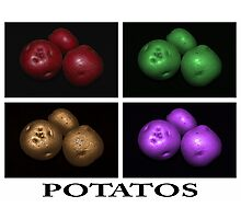 potato trio: quatro Photographic Print