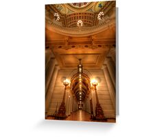 Golden Halls Greeting Card