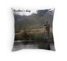 Fishing for trout Throw Pillow