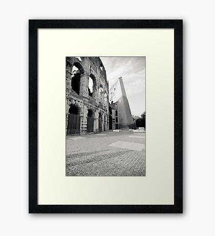 Il Mito di Roma - Colosseo (11 / 15) Framed Print