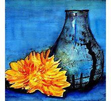 blue pot Photographic Print
