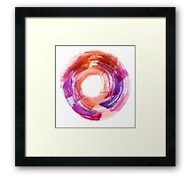 Abstract Watercolor Stroke  Framed Print