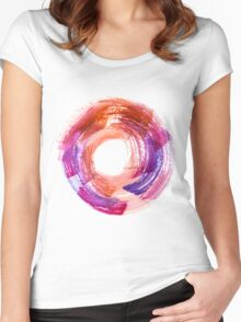 Abstract Watercolor Stroke  Women's Fitted Scoop T-Shirt
