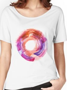 Abstract Watercolor Stroke  Women's Relaxed Fit T-Shirt