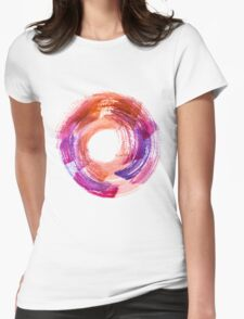 Abstract Watercolor Stroke  Womens Fitted T-Shirt