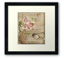 Book of Love - Clematis Framed Print