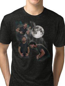 3 Beouf Moon Tri-blend T-Shirt