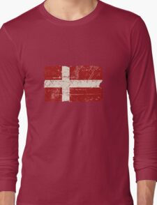 Denmark Flag - Vintage Look Long Sleeve T-Shirt