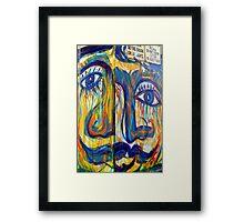 Cubism and StreetArt Framed Print