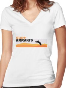 Surf Arrakis Women's Fitted V-Neck T-Shirt