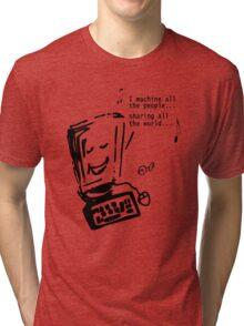 Imagine - John Lennon - Funny T-shirt Tri-blend T-Shirt
