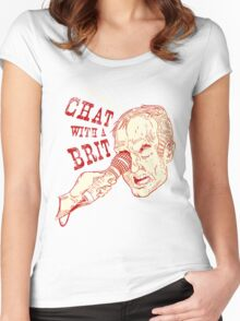 Chat With a Brit, on your chest! Women's Fitted Scoop T-Shirt