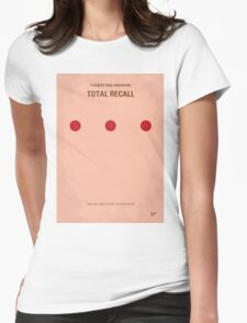 No097 My Total Recall minimal movie poster Womens Fitted T-Shirt