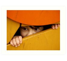 Hide and seek.... Art Print