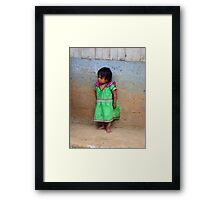 """Tough Girl""-Panama Framed Print"