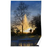 Sunset and Fountain - Marble Arch Poster