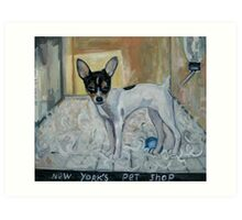 """dog from New York"" Art Print"