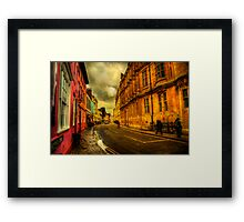 Oxford Streets Framed Print