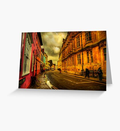Oxford Streets Greeting Card