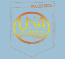usa los angeles orange tshirt by rogers bros co T-Shirt