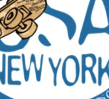 usa new york tshirt by rogers bros co Sticker
