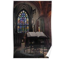 A prayer at St Giles Cathedral Poster