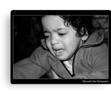 Unhappy With The Camera Canvas Print