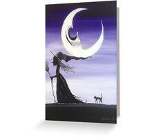 Skull Moon (Purple) Greeting Card