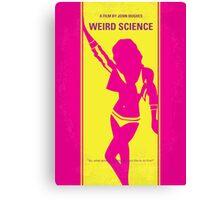 No106 My Weird science minimal movie poster Canvas Print