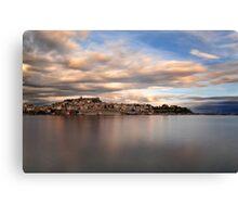 Panorama Of Kavala, Greece Canvas Print