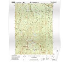 USGS Topo Map Oregon Fish Creek Desert 279865 1997 24000 Poster