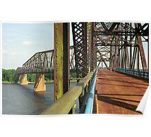 Route 66 - Chain of Rocks Bridge Poster