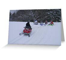 Snowmobile sledding Greeting Card