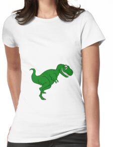 Cartoon Dino Womens Fitted T-Shirt