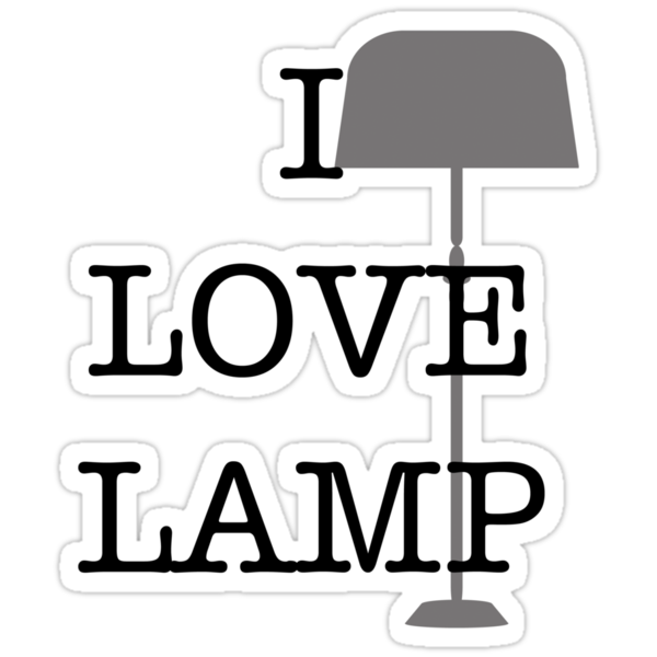 I Love Lamp by Steve Lambert