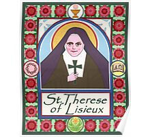 Icon of St. Therese of Lisieux Poster