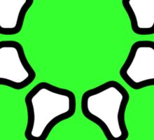 Glitch.Fm Logo - Green Sticker