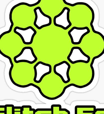 Glitch.Fm Logo - Bright Green Sticker