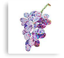 Low Poly Watercolor Grapes Canvas Print