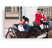 Prince William Saluting with Camilla. Canvas Print