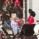 The Queen with Prince Phillip &amp; Princess Anne by Keith Larby