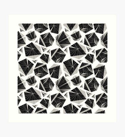 Unique geometrical pattern. Art Print
