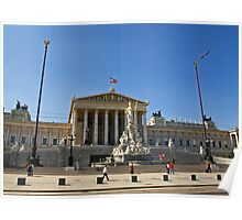 Austrian Parliament Building Poster