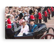 Prince William with Camilla Canvas Print