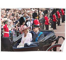 Prince William with Camilla Poster