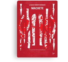 No114 My Machete minimal movie poster Canvas Print