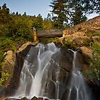 Moon over Helen Hunt Falls by RondaKimbrow